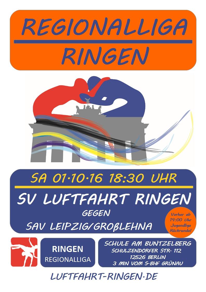 Regionalliga Heimkampf gg. SAV Leipzig/Großlehna
