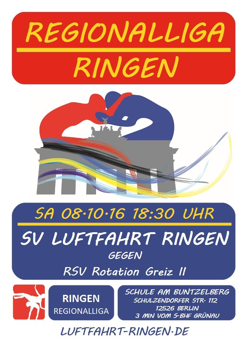 Regionalliga Heimkampf gg. RSV Rotation Greiz II