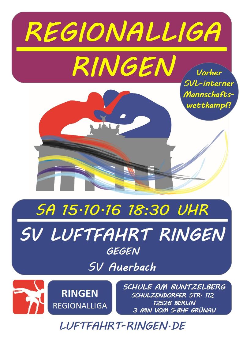 Regionalliga Heimkampf gg. SV Auerbach