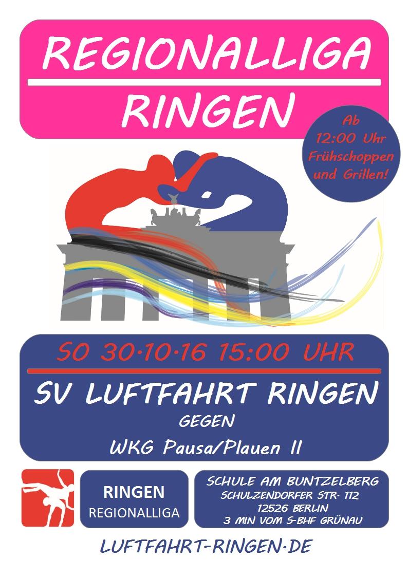Regionalliga Heimkampf gg. WKG Pausa/Plauen II