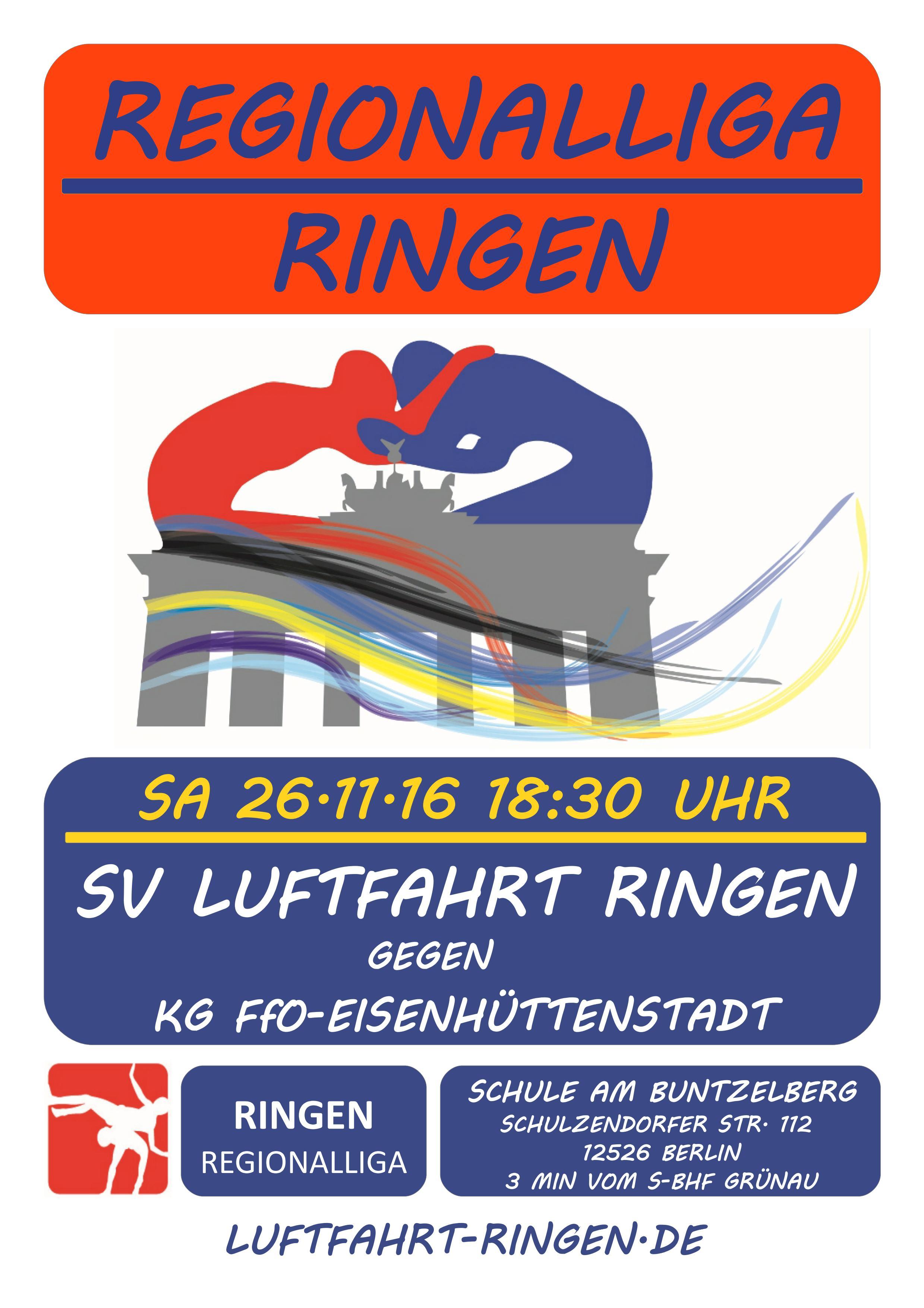 Regionalliga Heimkampf gg. KG Ff/O-Eisenhüttenstadt