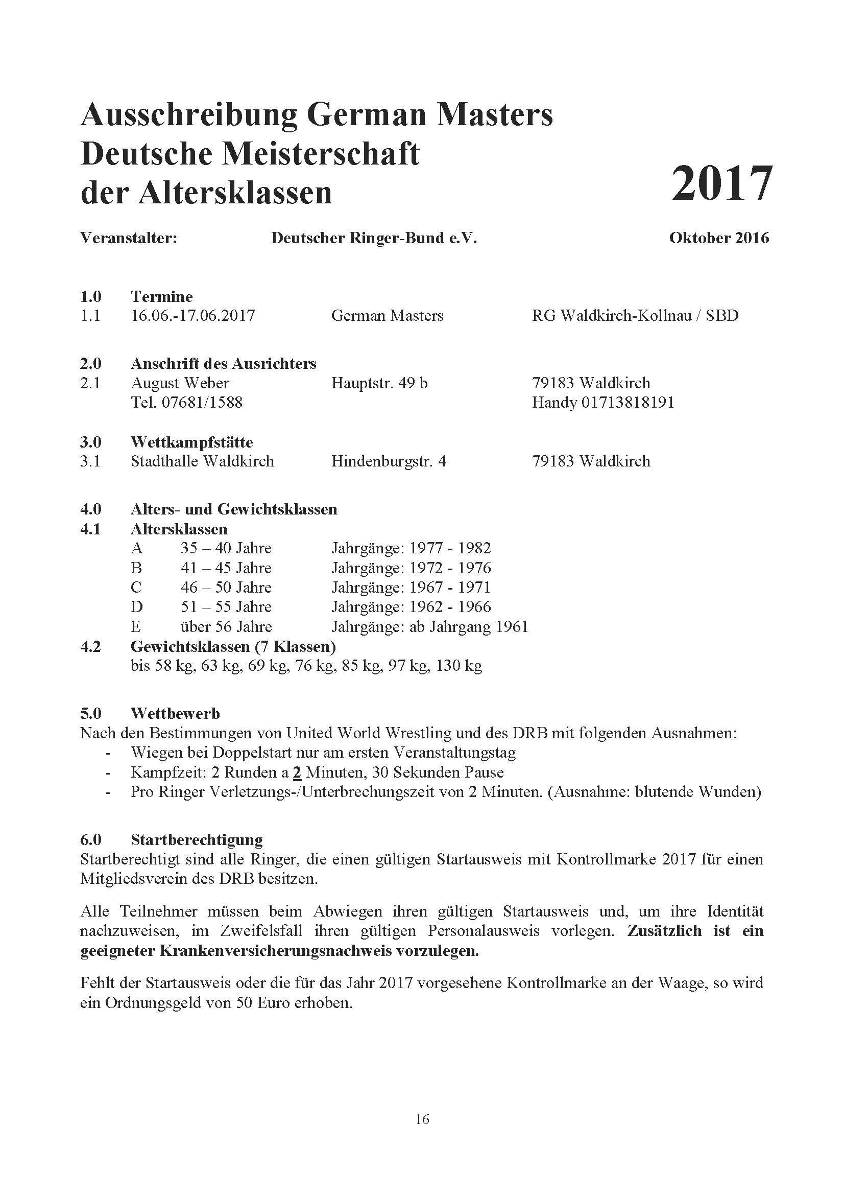 German Masters 2017 GR