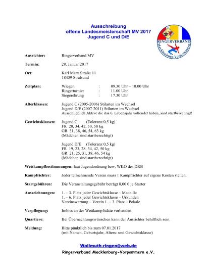 Offene Landesmeisterschaft / MEV