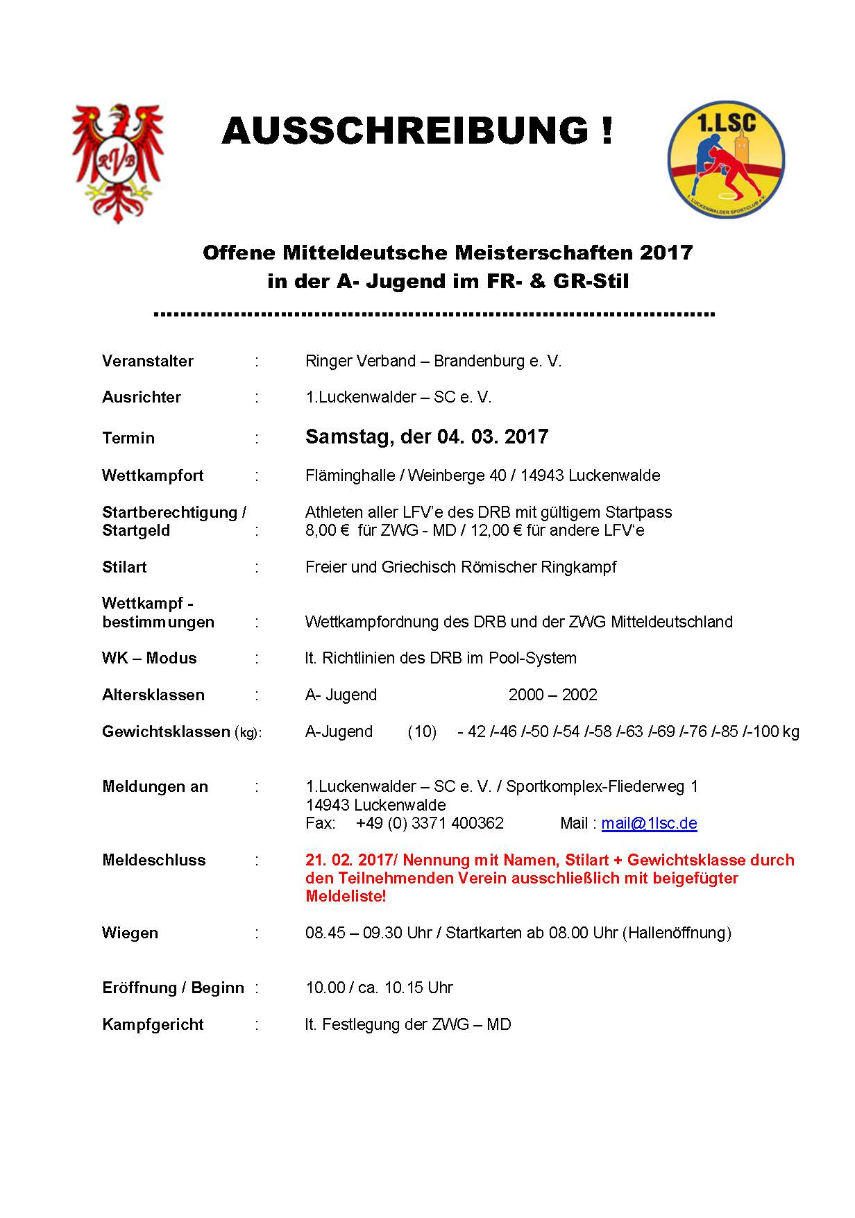 MDM A-Jugend FS/GR 2017