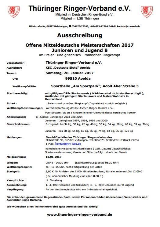 MDM Junioren & Jugend B FS&GR 2017