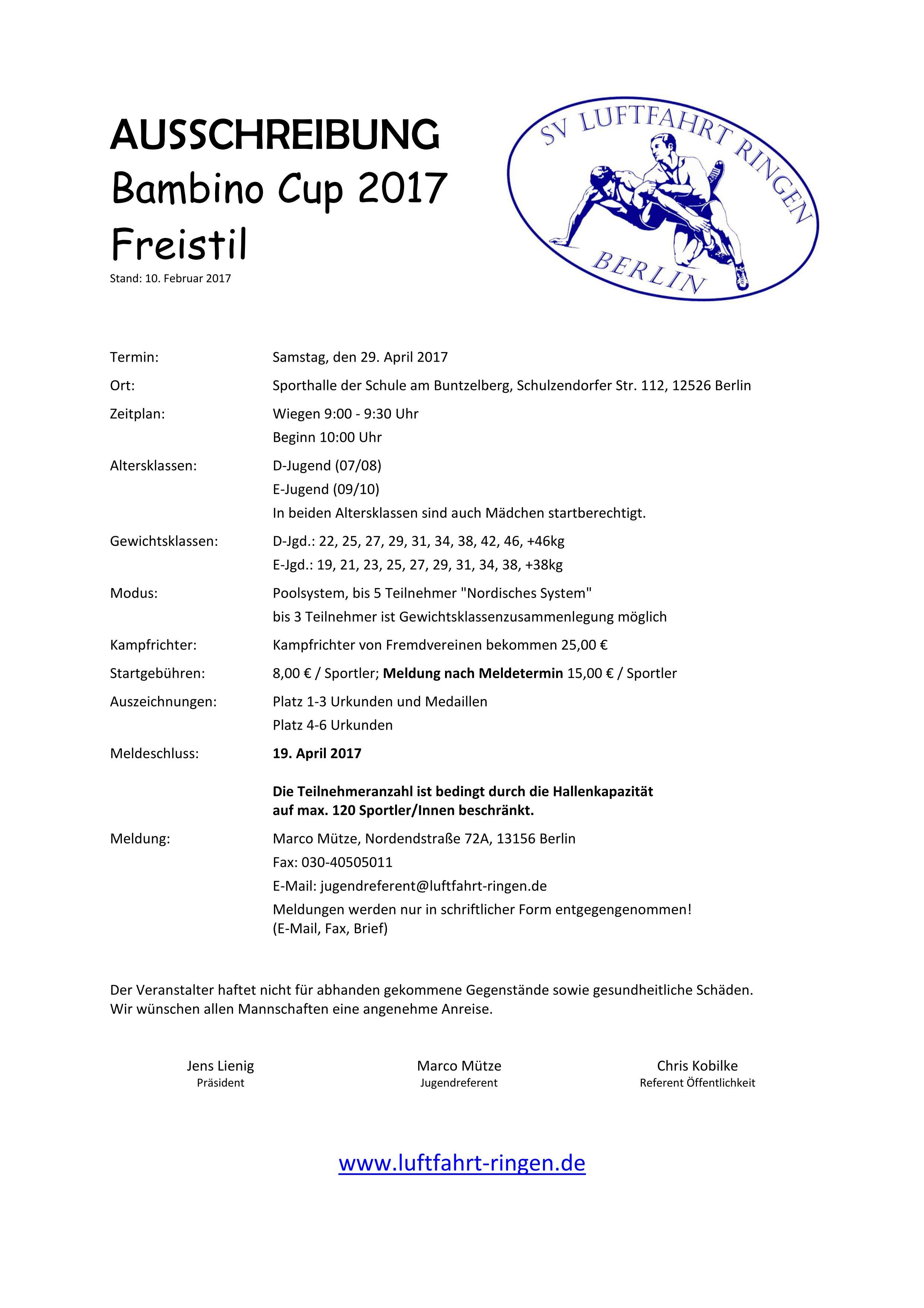 Bambino Cup 2017