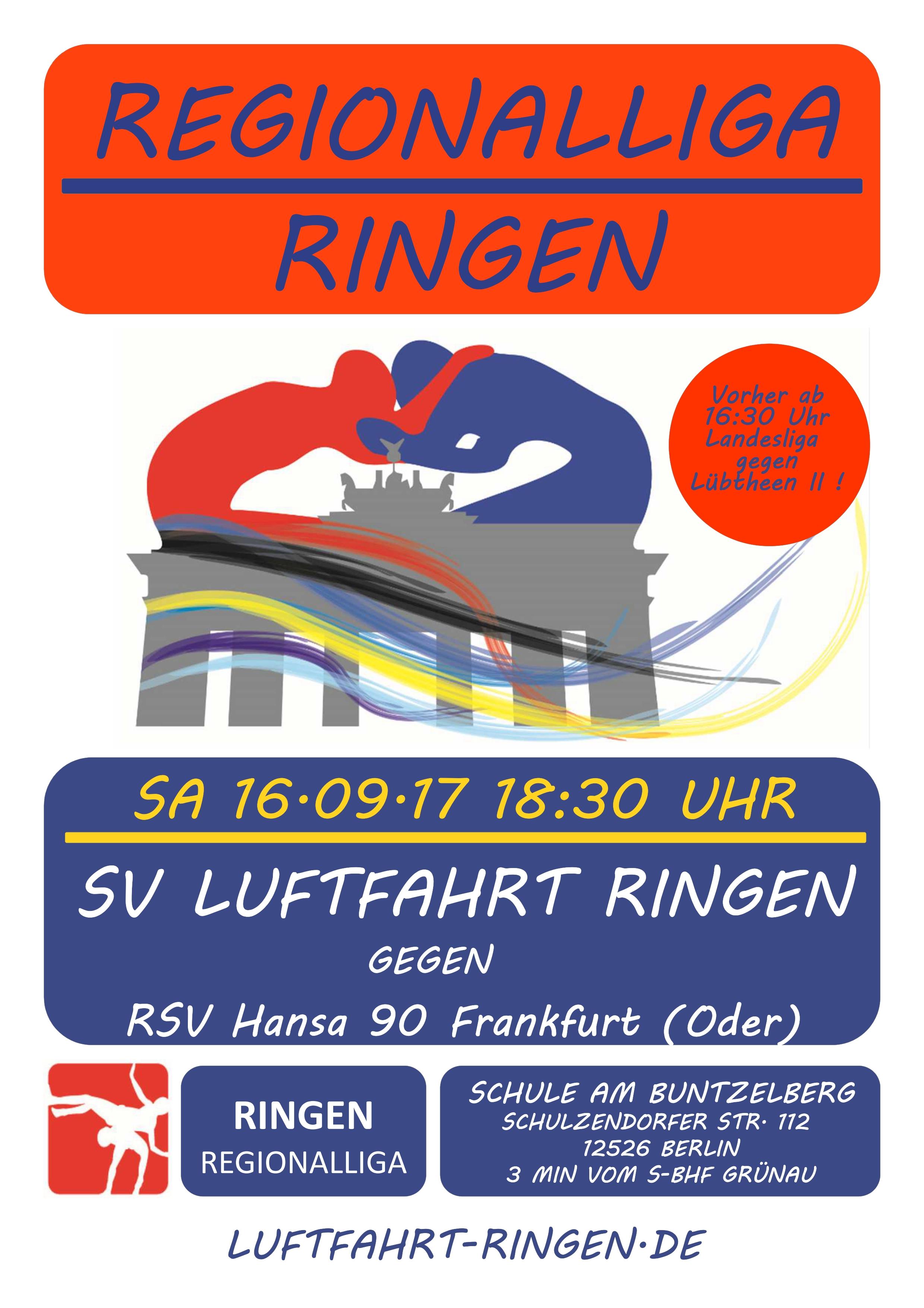Regionalliga Heimkampf gg. RSV Hansa 90 Frankfurt (Oder)