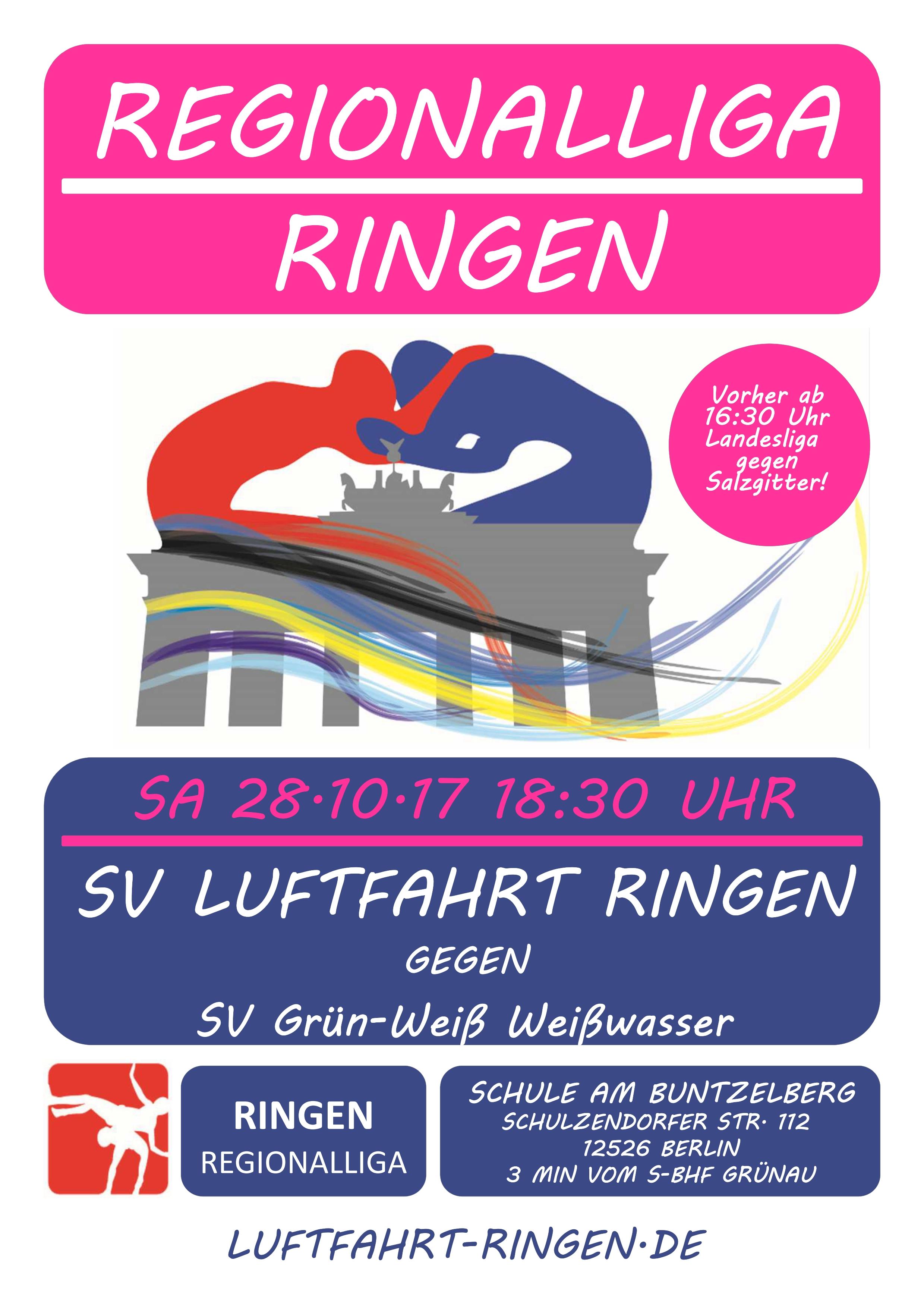 Regionalliga Heimkampf gg. SV Grün-Weiß Weißwasser