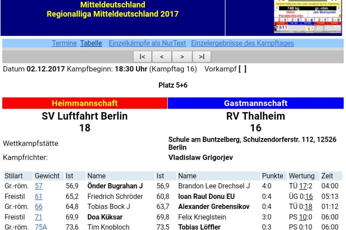 SV Luftfahrt Ringen vs RV Thalheim