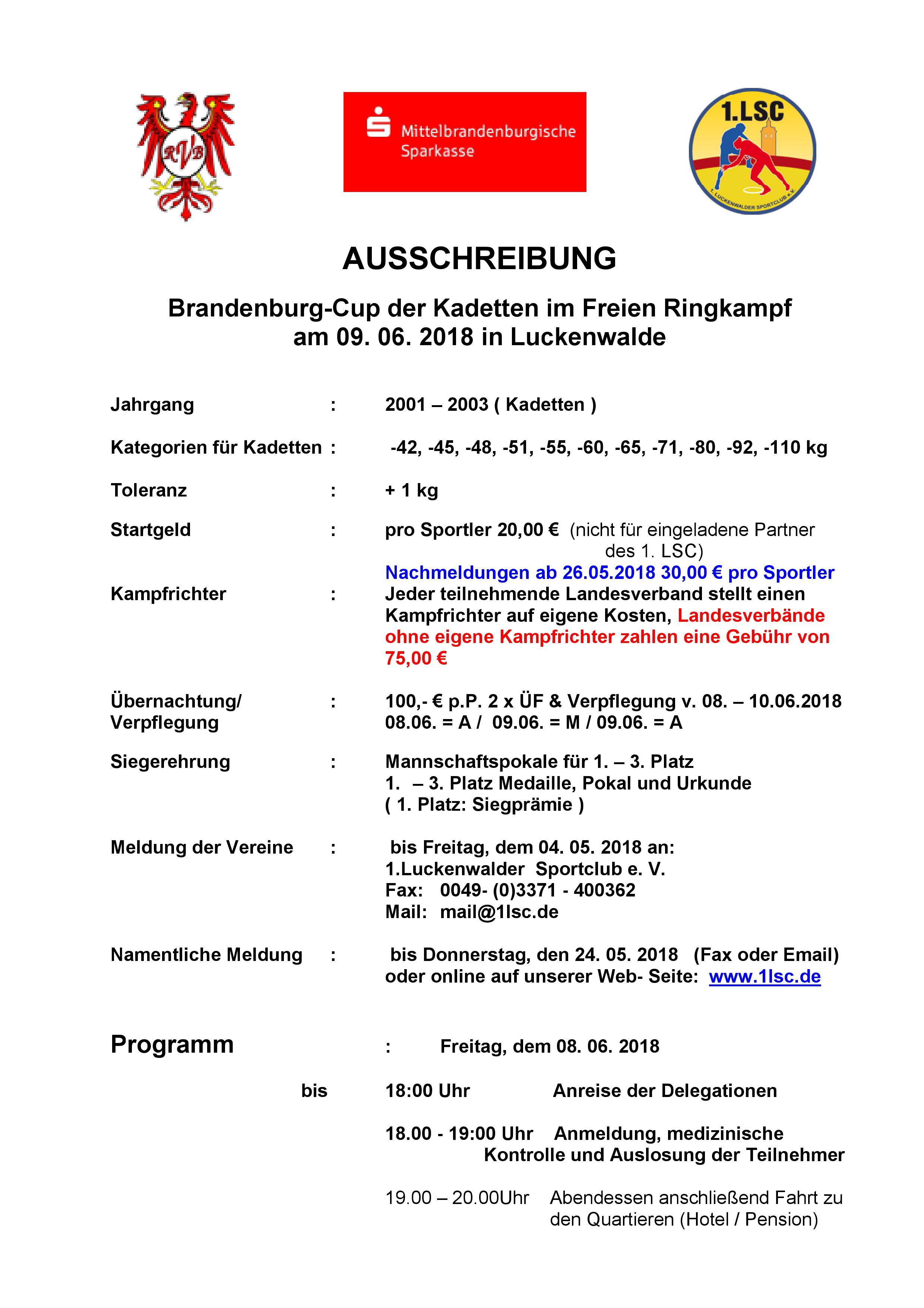 Brandenburg-Cup der Kadetten