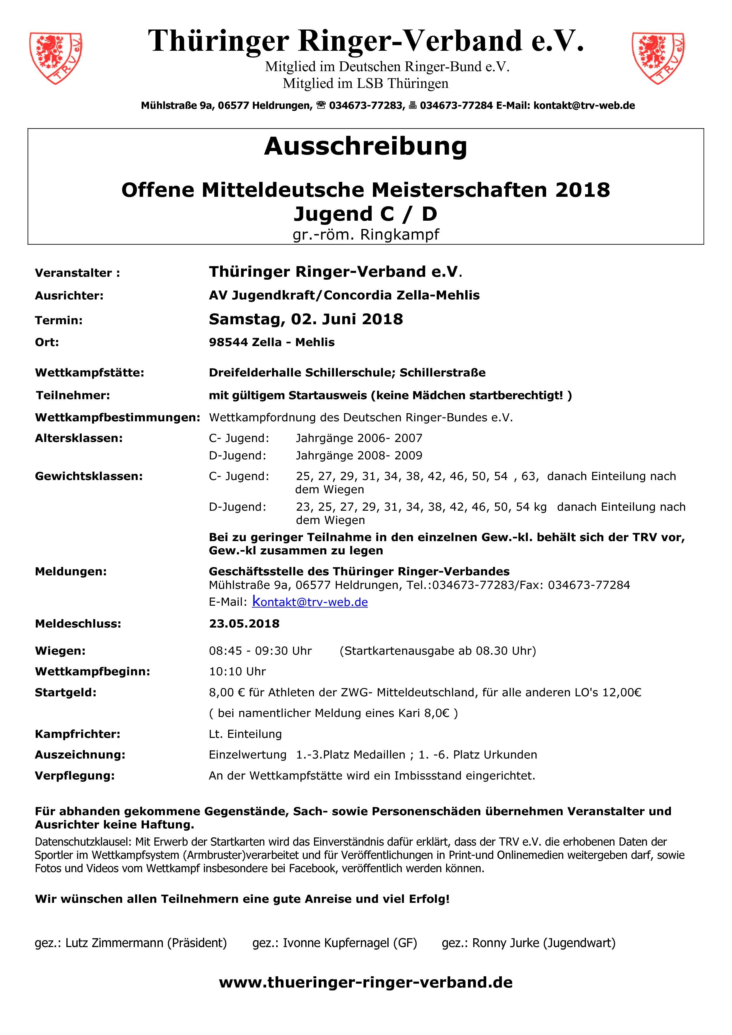 MDM Jugend C/D 2018