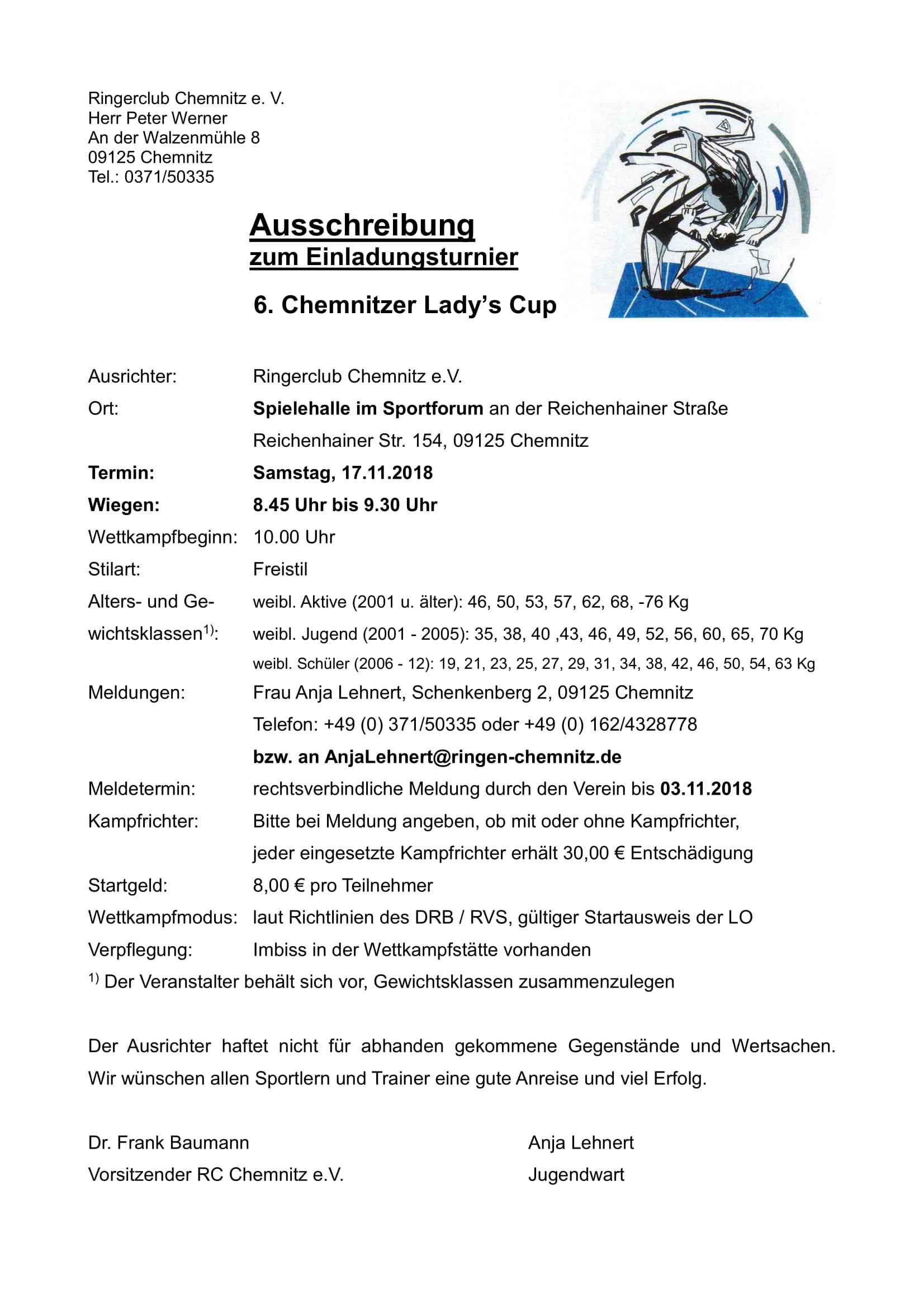 6. Chemnitzer Lady's Cup