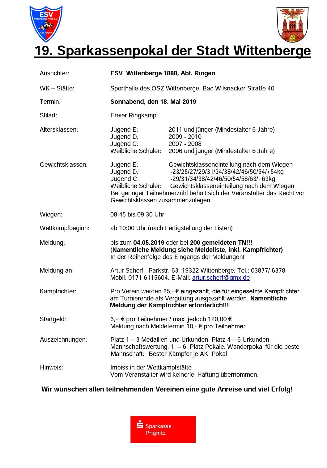 Sparkassenpokal Wittenberge