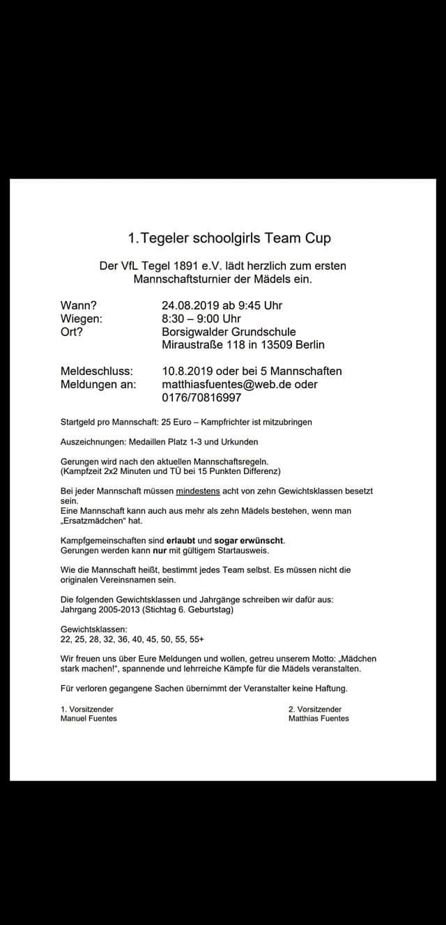 1. Tegeler Schoolgirls Team Cup