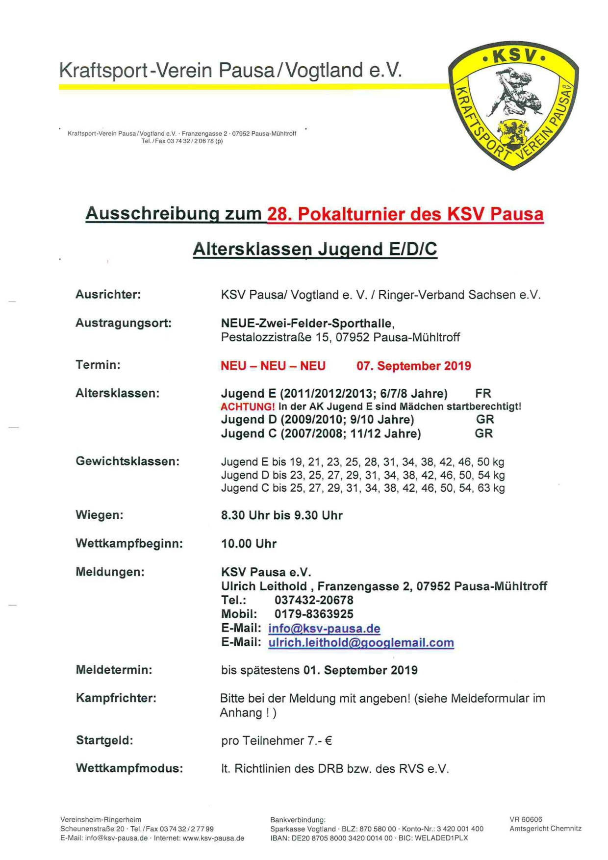 28. KSV-Pokal Pausa