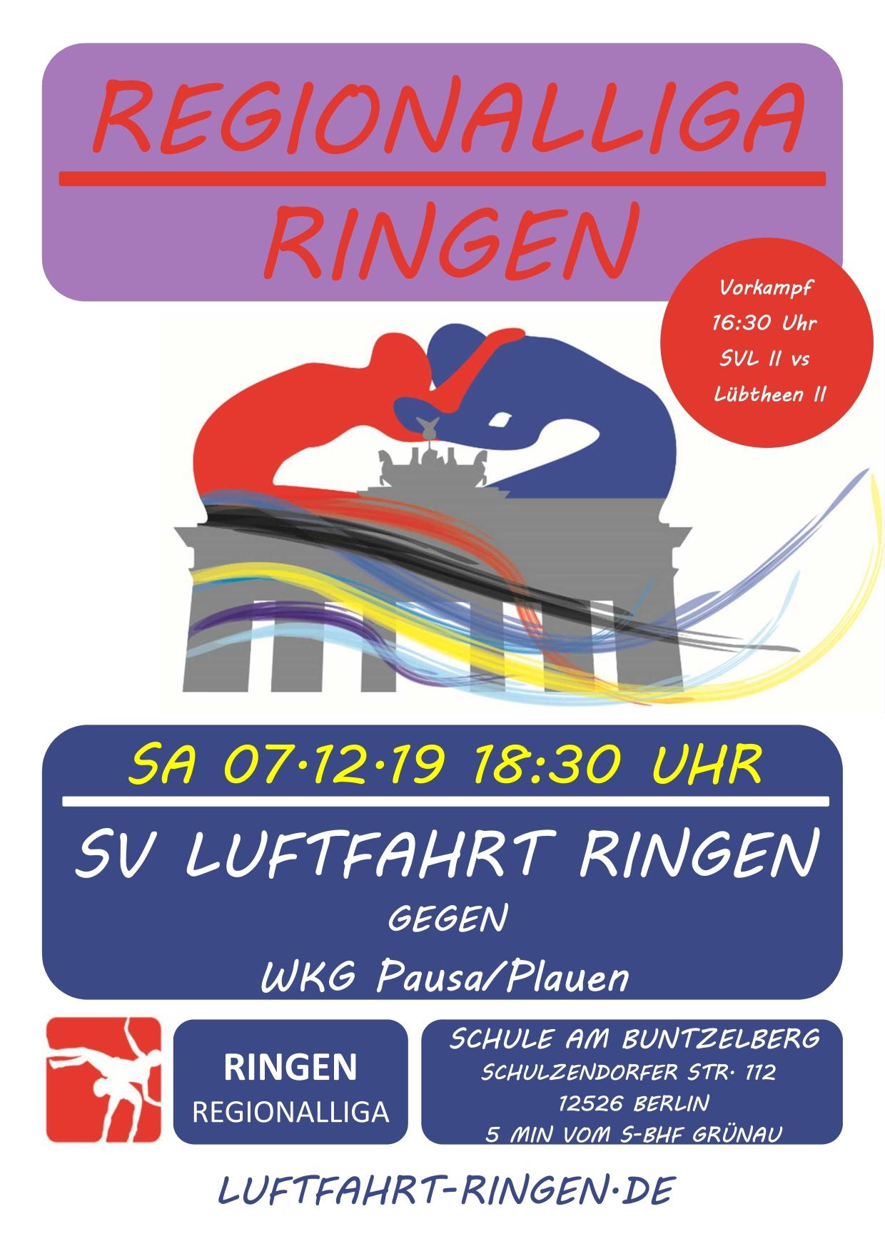 RL-Heimkampf vs WKG Pausa/Plauen