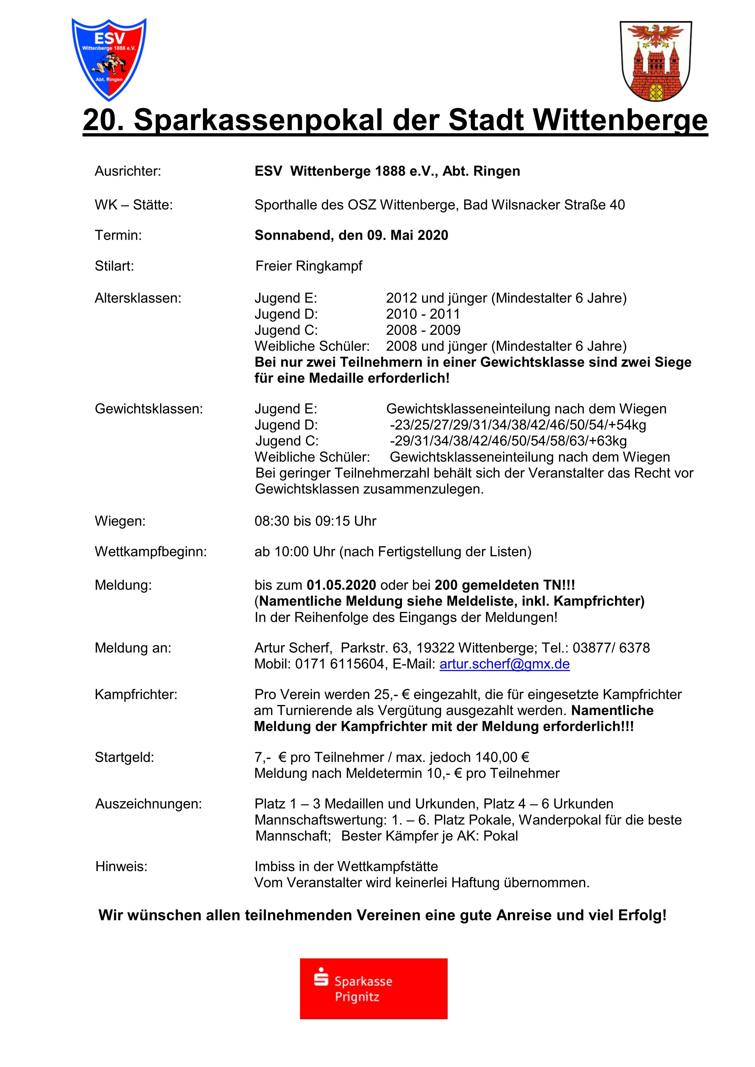 20. Sparkassenpokal der Stadt Wittenberge